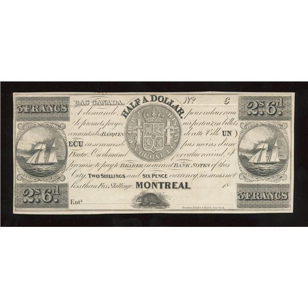John Molson Quarter 2 Shillings/6 Pence, Half Dollar - Proof