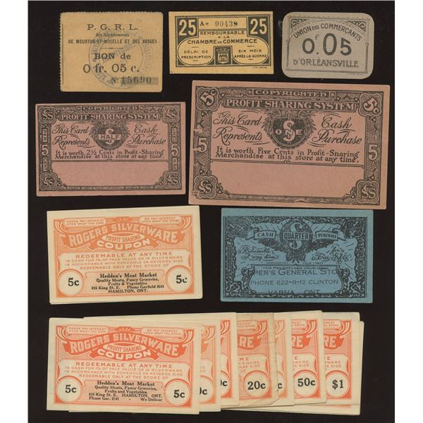 H. Don Allen Collection - DepressionEra Scrip and Coupons