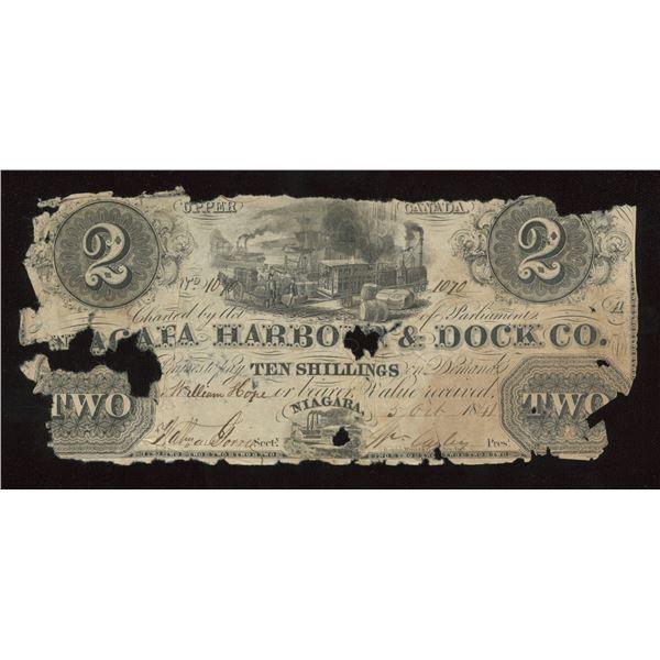 Niagara Harbour & Dock Co. $2, 1841