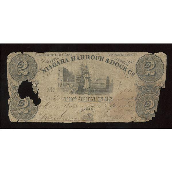 Niagara Harbour & Dock Co. $2, 1840