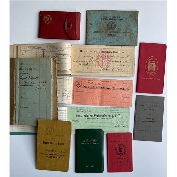 Selection of Bank Pass Books, etc.