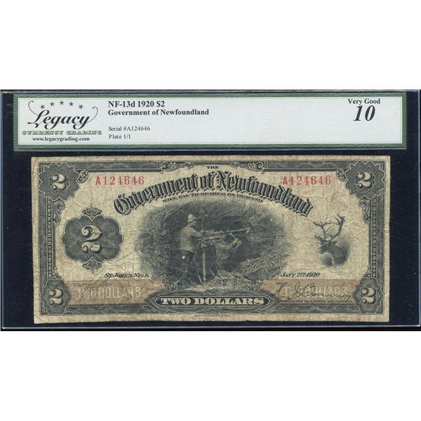 Government of Newfoundland $2 1920