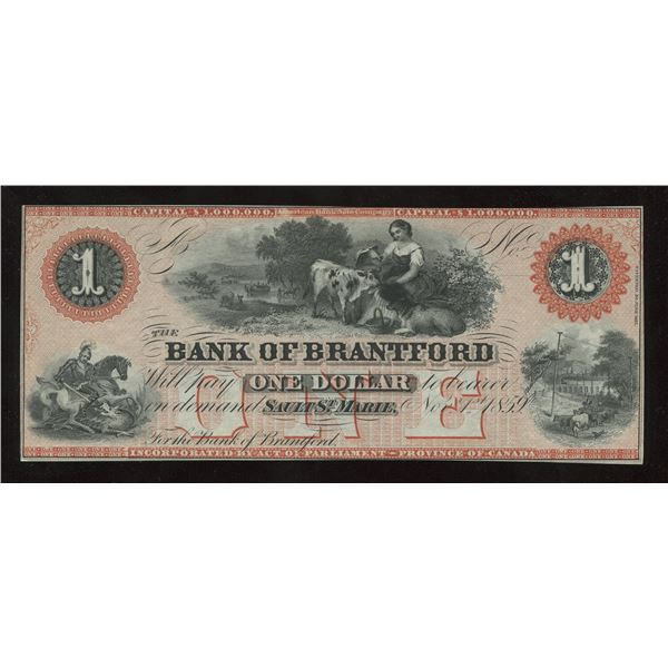 H. Don Allen Collection - Bank of Brantford $1, 1859