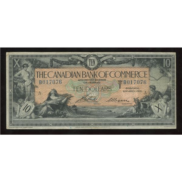 H. Don Allen Collection - Canadian Bank of Commerce $10, 1917