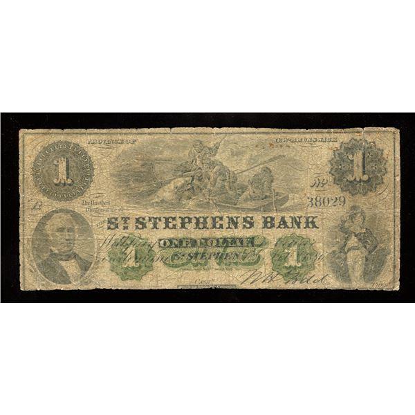 Bank of St. Stephen $1, 1886