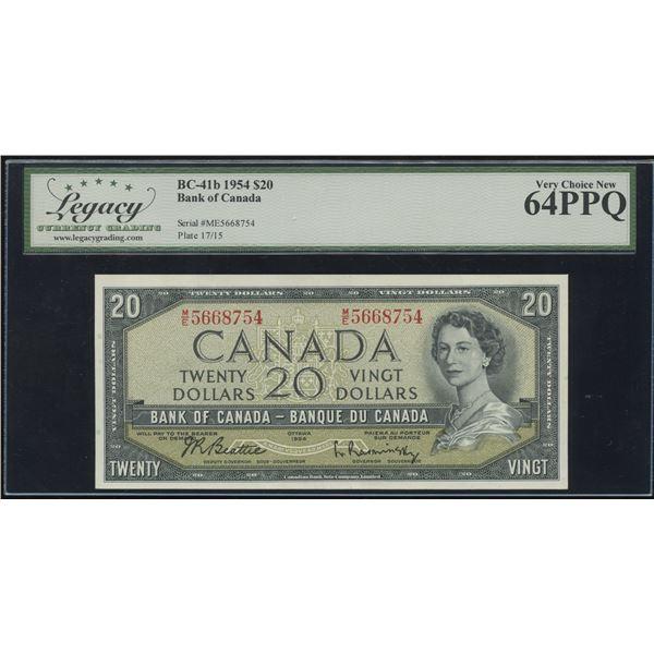 Bank of Canada $20, 1954 Transitional Prefix