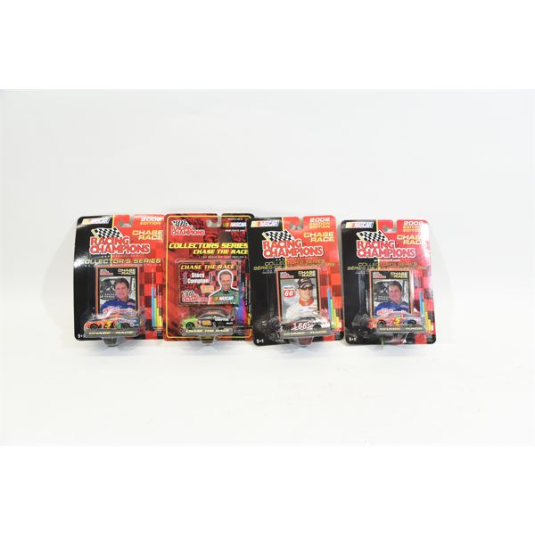 Four 1:64 Scale Racing Champions Chase The Race NASCAR