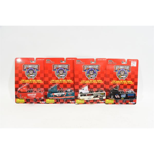 50th Anniversary Nascar 1:144 Die Cast Replicas Team Transport and Car