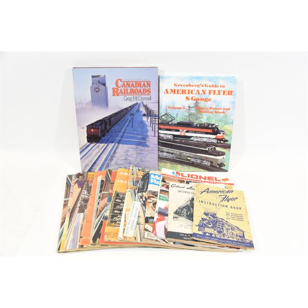 Various Train Books and Some Vintage Train Catalogues