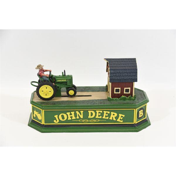 John Deere Cast Iron Mechanical Bank