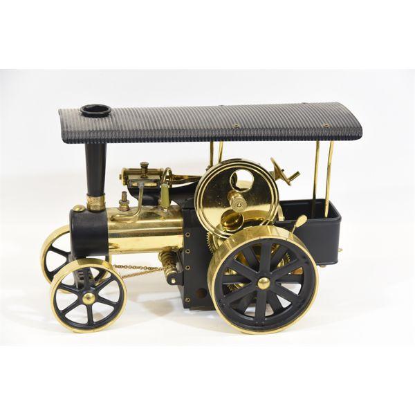 Wilesco D406 Steam Traction Engine Black-Brass