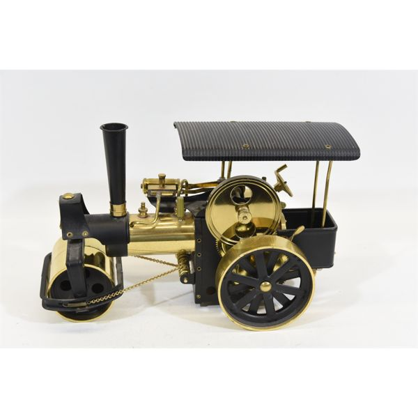 Wilesco Steam Engine Roller D366 Old Smoky In Brass and Black