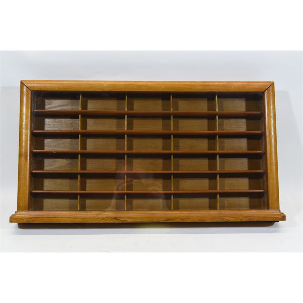 Glass Front Wooden Display Case For 1:64 Scale Cars