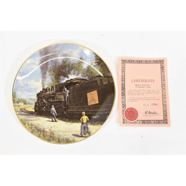 Two Railroad Collector Plates Christian Bell Porcelain Ltd.