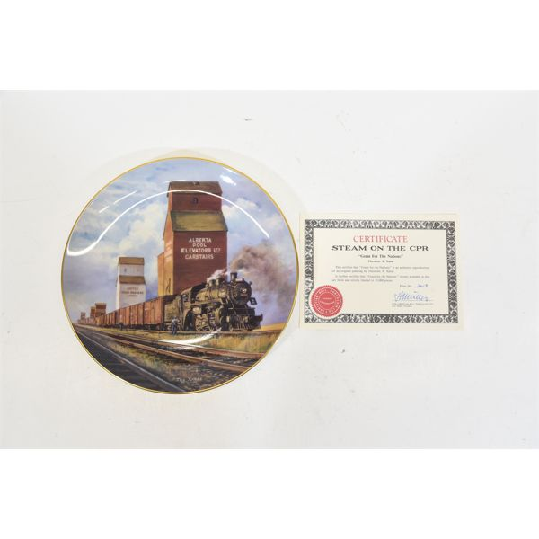Two Railroad Collectible Plates Christian Bell Porcelain Ltd.
