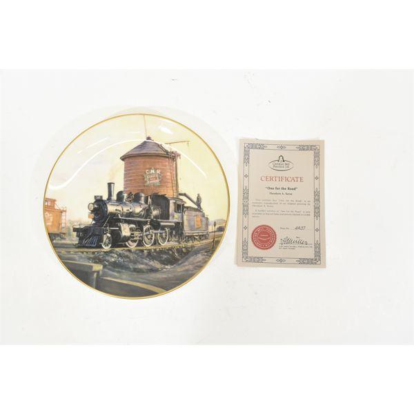 Four Collectible Railroad Plates Christian Bell Porcelain Ltd.