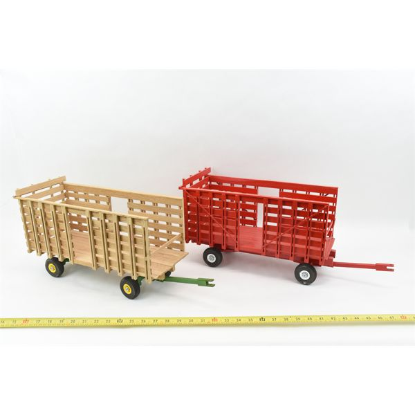2Handcrafted Hay Wagons