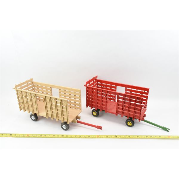 2 Handcrafted Hay Wagons
