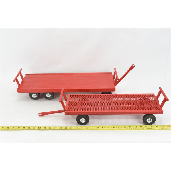 2 Handcrafted Wagons