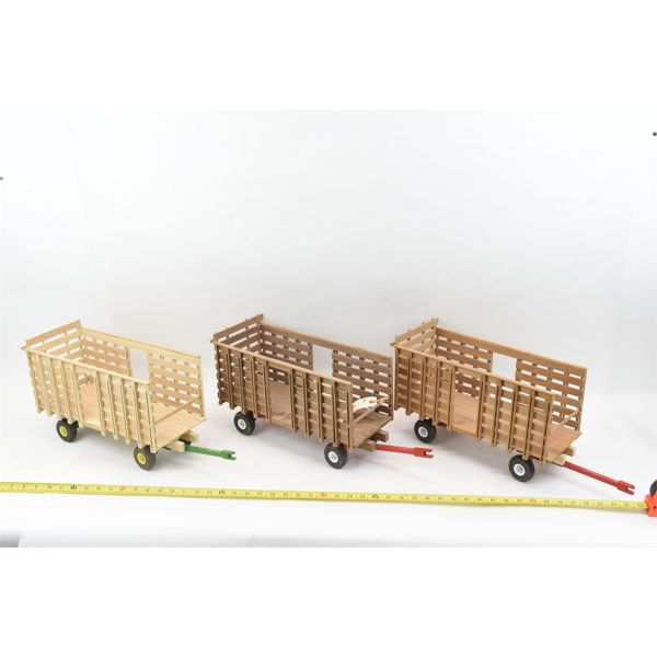 3 Unfinished Wagons