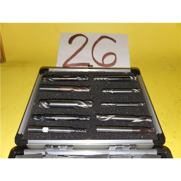 Box of Assorted Carbide End Mill