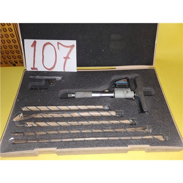 """Mitutoyo 329-711-10 Digital Depth Micrometer Set 0-6"""" - Accuracy to .00005"""" (TESTED)"""