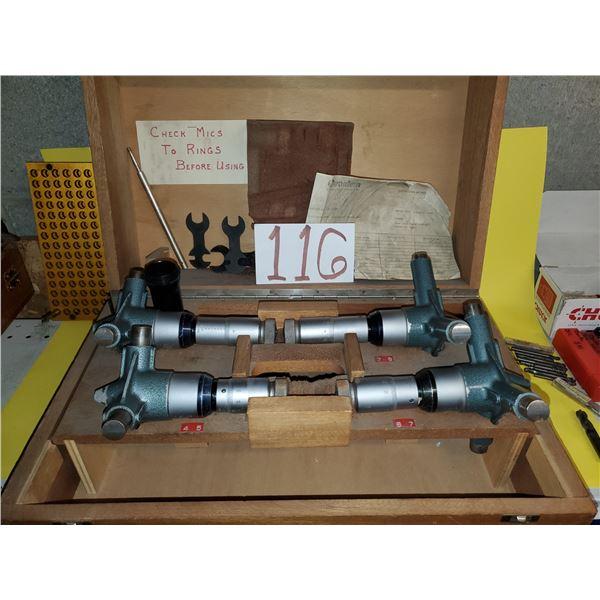 """TESA 4"""" to 8"""" Inside Hole Micrometer Set"""