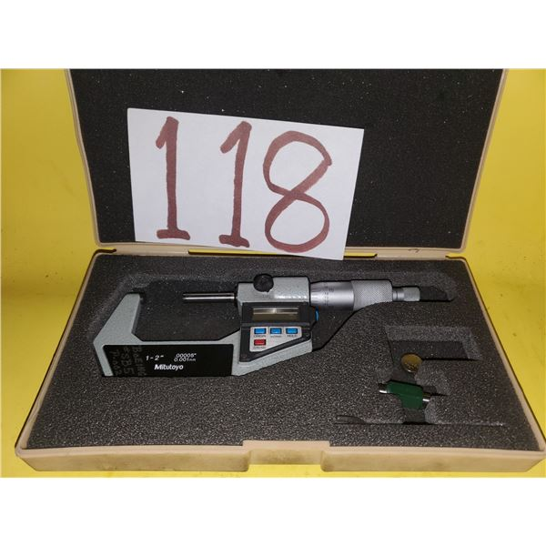 "Mitutoyo No. 293-722-10 Digital Micrometer 1-2"" .00005"" (TESTED)"