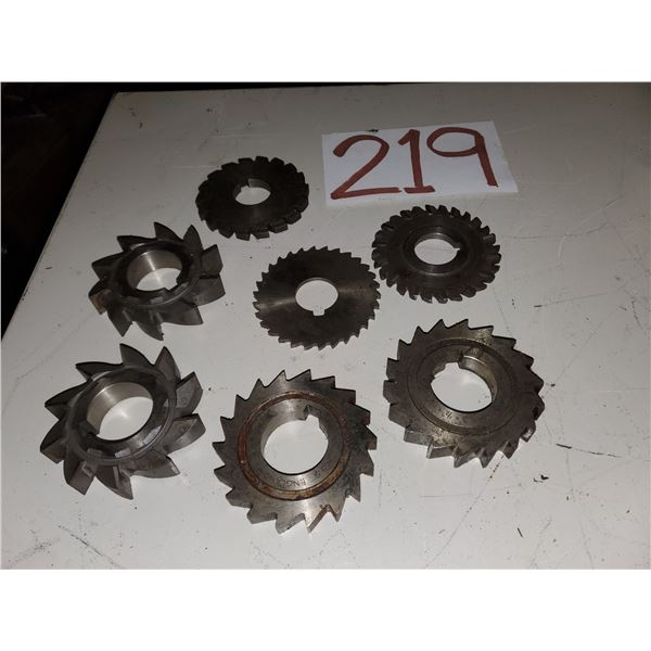 Lot of Assorted Milling Cutter 3""