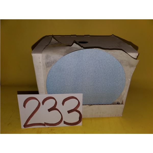 "Box of Stick-On Abrasive Disc 6"" Gr.180"