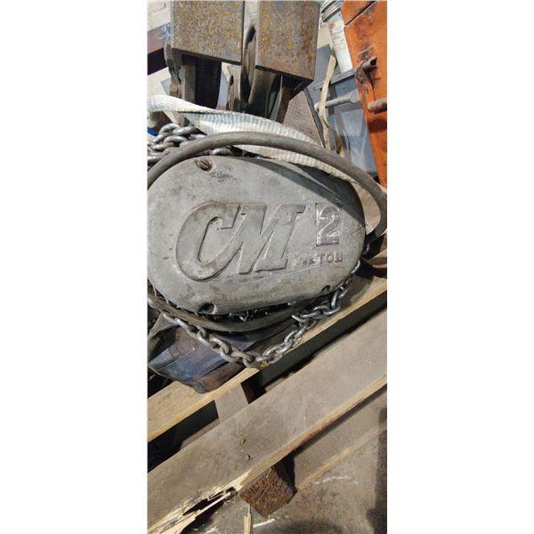 CM Electric Hoist 2 Ton