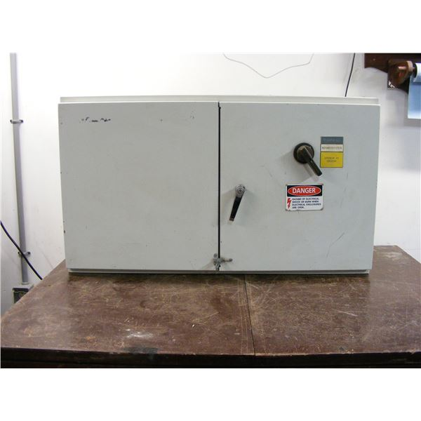 Industrial electrical enclosure with contactors, thermal relays, connectorsm, fuses holders... as se
