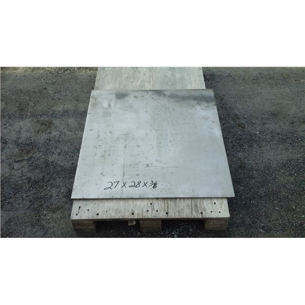 """Plate stainless 409 27""""x28""""x3/8"""