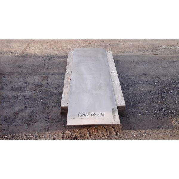 """Plate stainless 409 18 3/4""""x60""""x3/8"""