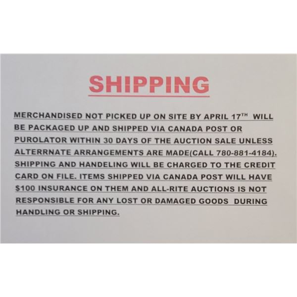 SHIPPING. PLEASE READ