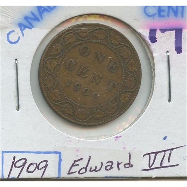 1909 Large Canadian One Cent