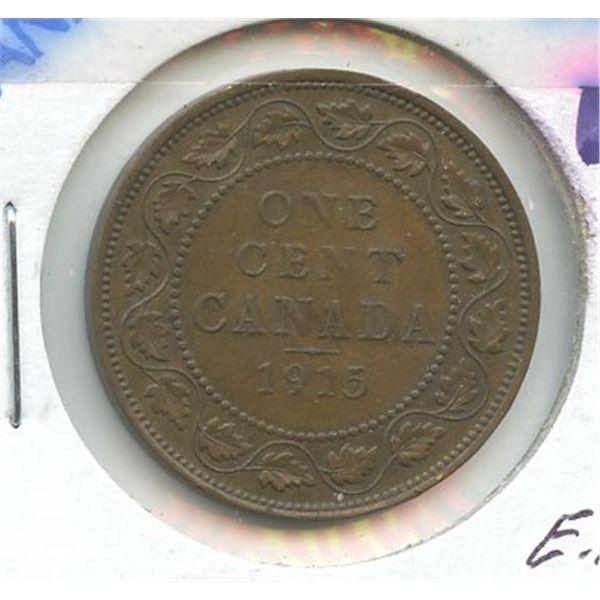 1915 Large Canadian One Cent