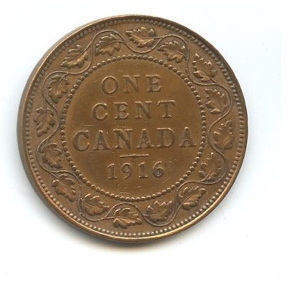 1916 Large Canadian One Cent