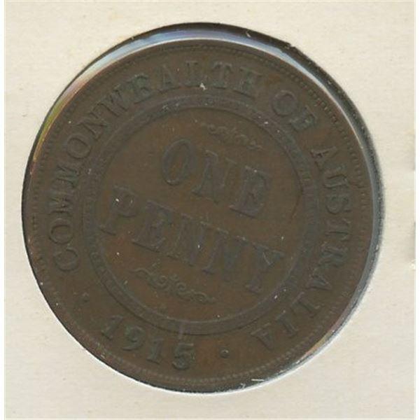 1915 H One Penny Australian low mintage 1,320,000