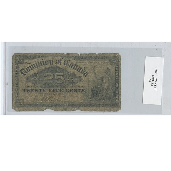 1900 Shinplaster 25 CENT BILL  Boville