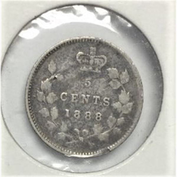 1888 Small Five Cents