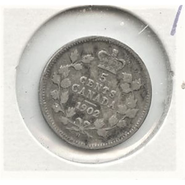 1902 Small Five Cents