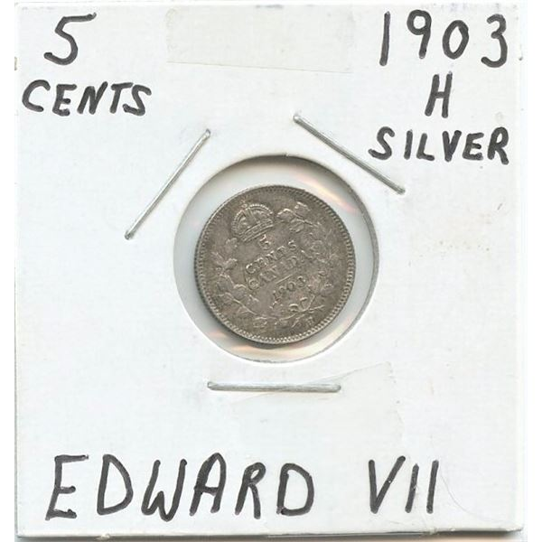 1903 Small Five Cents