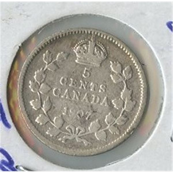1907 Small Five Cents