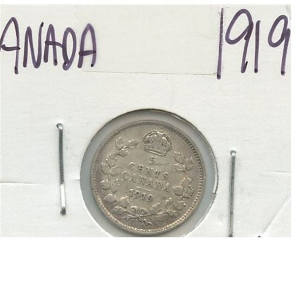 1919 Small Five Cents