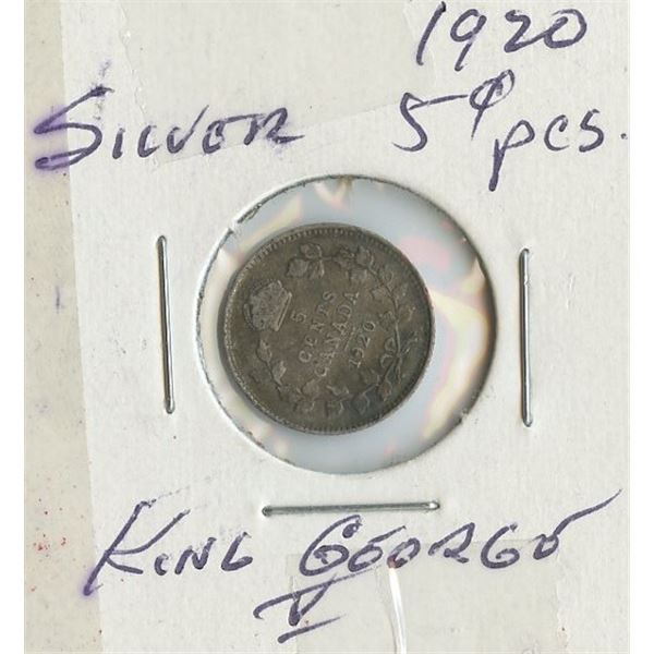 1920 Small Five Cents
