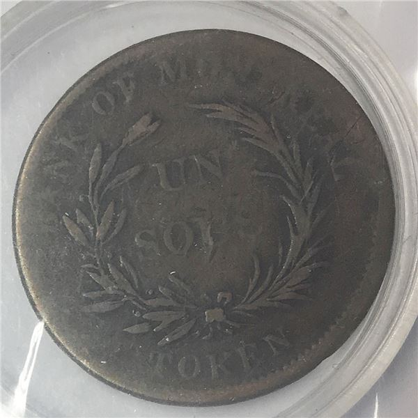 Bank of Montreal Historic Bank Token, no date known at least 150 years old