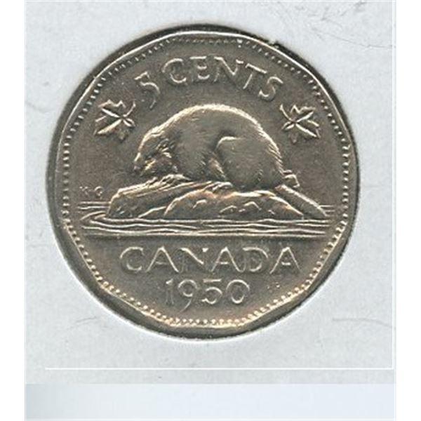 1950 Five Cents