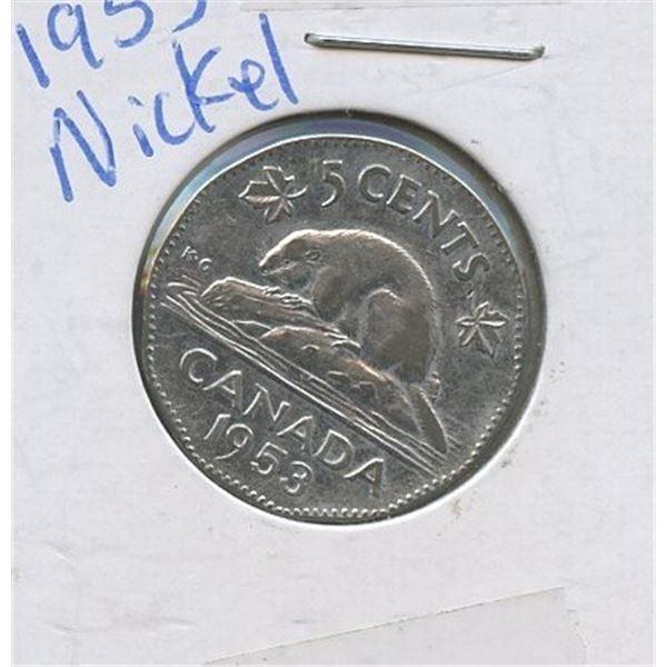 1953 Five Cents