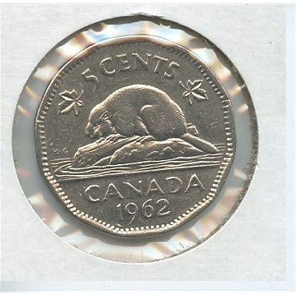 1962 Five Cents